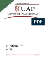 Informe Fundicion de Aluminio