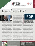 La récréation est finie !, Infor FEB 21, 10 juin 2010