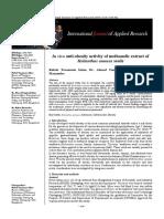 In Vivo Anti Obesity Activity of Methanolic Extract of Helianthus Annus
