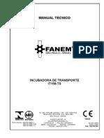 Incubadora de Transporte Modelo IT-158 TS Manual Técnico