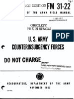 U.S. ARMY COUNTERINSURGENCY FORCES, DEPARTMENT OF THE ARMY FIELD MANUAL FM 31-22, NOVEMBER 1963