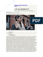 ¿Podemos Oir Al Subalterno? - Entrevista a Gayatri Spivak