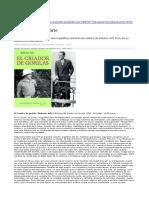 Reseña a Edición 2012 española de El Criador de Gorilas, de Roberto Arlt