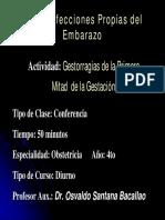 1gestorragias de La 1ra Mitad de La Gestacion. Dr. Osvaldo Santana 0
