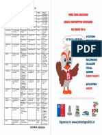 Información de Las Competencias. Juegos Deportivos Escolares.
