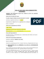 Informe Policial Nº 001