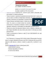 Exemplu Practic de Contabilitate La PFA - II