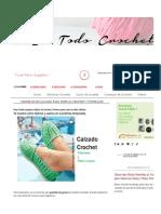 5 Modelos de Calzado para tejer al Crochet _ Tutoriales _ Todo crochet.pdf