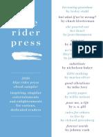 Blue Rider Press 2016 Sampler