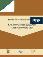 La Mortalidad en El Ecuador en El Periodo 1990-2001
