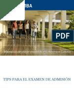 Como Preparar El Examen de Admision Incae 120528