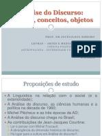 Análise Do Discurso Na França e No Brasil - Aula Para a Pós Em Passos