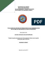 """""""Evaluación Del Proceso de Producción de Agua Desmineralizada"""