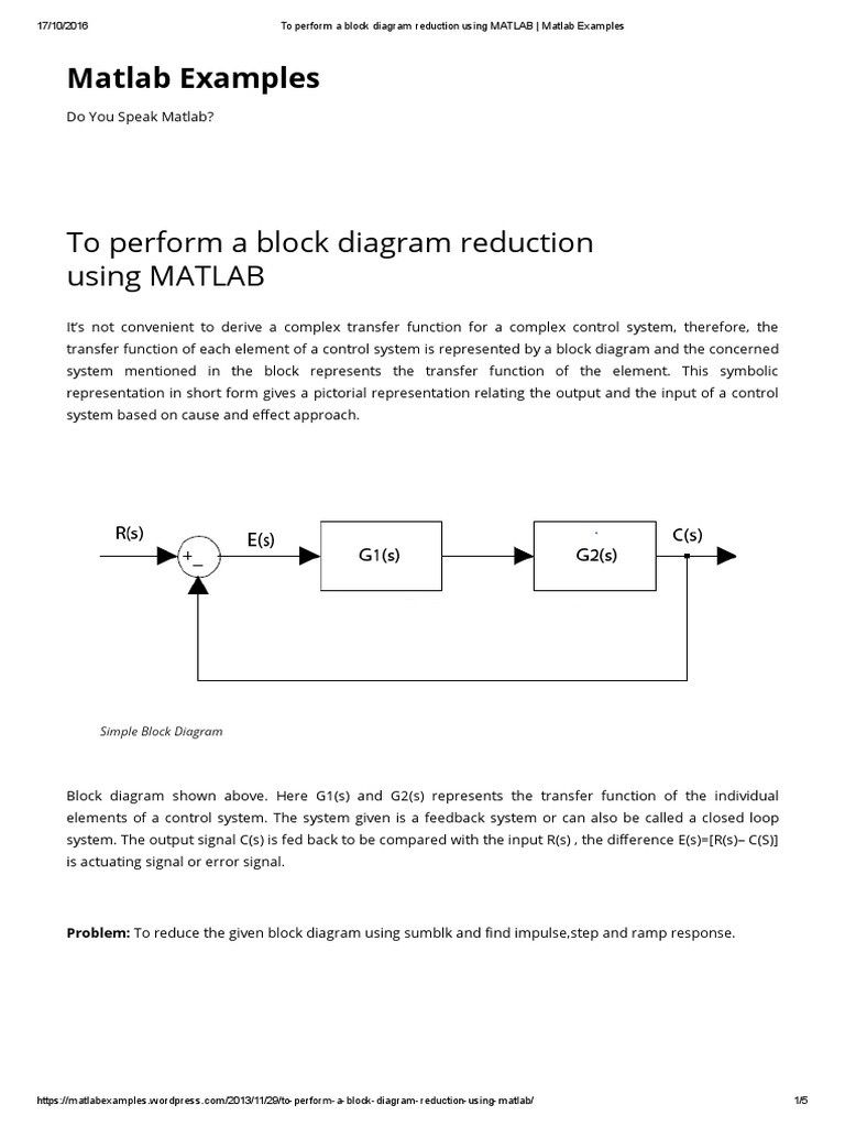 transfer function block diagram reduction. Black Bedroom Furniture Sets. Home Design Ideas