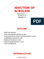 Production of Acrolein