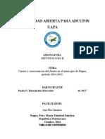 Causas y Consecuencias Del Aborto en El Municipio de Nagua Periodo 2014 2015.