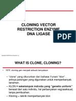 8. Cloning Vector & Enzim Restriksi Fix