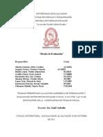 Diseño de Evaluacion Formulacion de Proyecto