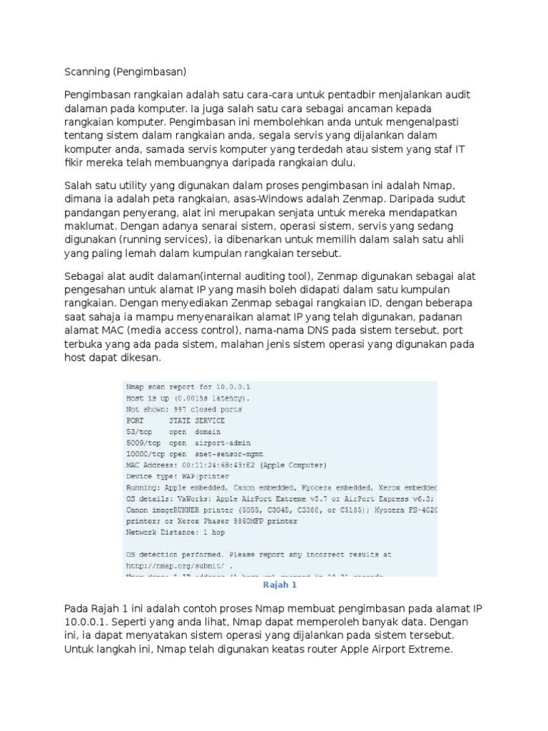 Scanning | Port (Jaringan Komputer) | Protokol Komunikasi