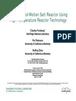 Advanced Molten-Salt Reactor Using High-Temperature Tech