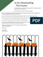 Halloween ABC Puzzle