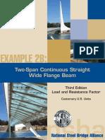 SteelBridge DesignHandbook Ex2B Composte 2 Span Continious Wide Flange
