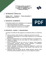 Informacion de La Asignatura