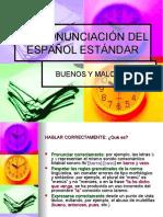 La Pronunciacion Del Espanol Estandar
