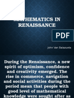 Mathematics in Renaissance