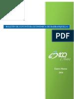 Boletín de Coyuntura Económica de Barranquilla (Enero-marzo de 2016) (Cámara de Comercio de Barranquilla)