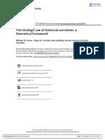 The Strategic Use of Historical Narratives a Theoretical Framework