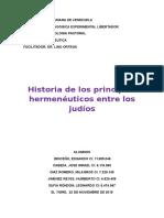 Historia de Los Principios Hermenéuticos Entre Los Judíos