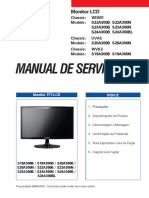 Manual de Serviço. Monitor Lcd s20a300b s20a300n s24a300b s24a300bl s19a300b s19a300n. Monitor Tft-lcd Índice
