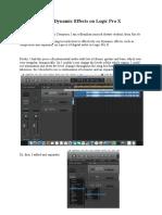 Using Dynamic Effects on Logic Pro X