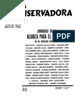 Revista Conservadora No. 35 Ago. 1963