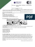 Análise Sintática - Período Simples - Com Gabarito