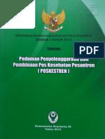 PerMenKesRI Tentang Pedoman Penyelenggaraan Dan Pembinaan POSKESTREN