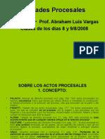 Nulidades Procesales (introducción)