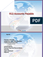 Oracle R12 Account Payables