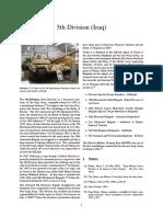 5th Division Iraqi army, modern