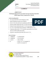 Perhitungan Efisiensi Gas Turbine Generator dan WHB