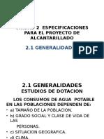 Unidad 2 Especificaciones Para El Proyecto de Alcantarillado