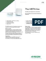 Regin Wall Mounted Humidity & Temperature Transmitter