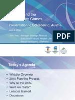 Planning for 2010 Games - Slides