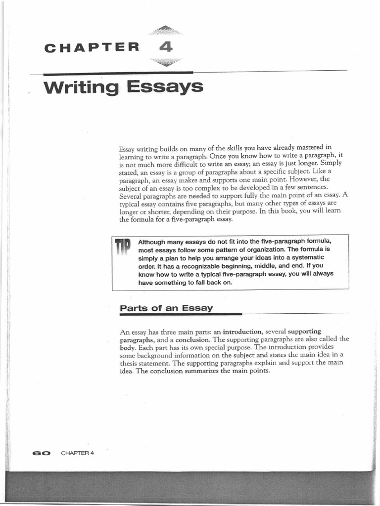parts of writing an essay