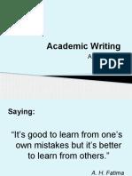 Academic Writing Slides