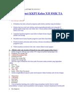 Soal Dan Kunci Kkpi Kelas Xii Smk Ta 2014