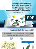 Exploring Language Learning Strategy Use and Its Relation to Academic Self Concept