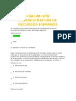Evaluación Administración de Recursos Humanos