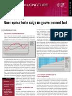 Une reprise forte exige un gouvernement fort, Focus conjoncture FEB, juin 2010
